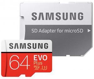 Samsung microSDXC EVO+ UHS-I U3 64GB Class10